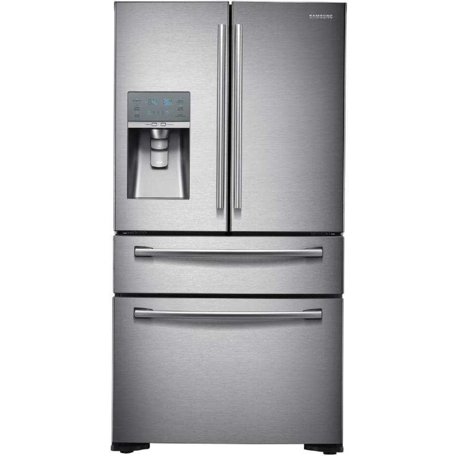 Samsung 22.6-cu ft 4-Door Counter-Depth French Door Refrigerator with Single Ice Maker (Stainless Steel) ENERGY STAR