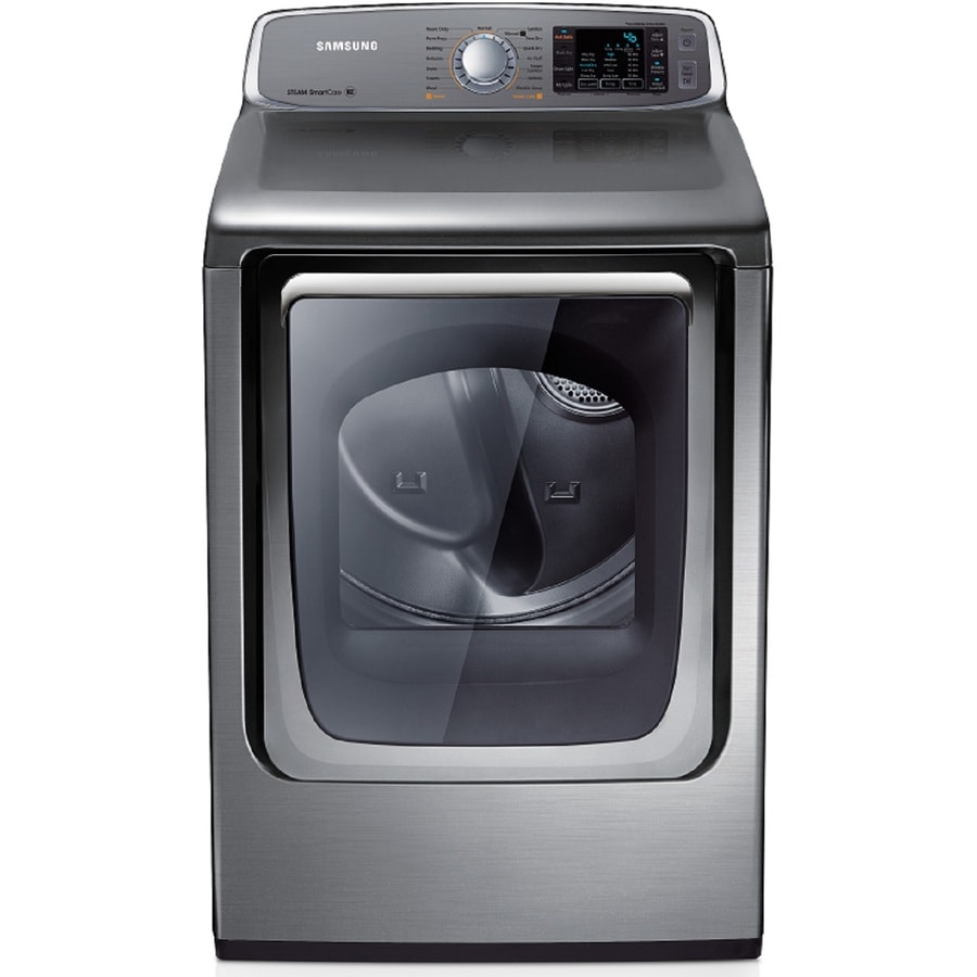 Samsung 7.4-cu ft Electric Dryer with Steam Cycle (Platinum)