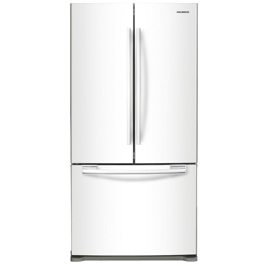 Samsung 17.51-cu ft Counter-Depth French Door Refrigerator with Single Ice Maker (White)