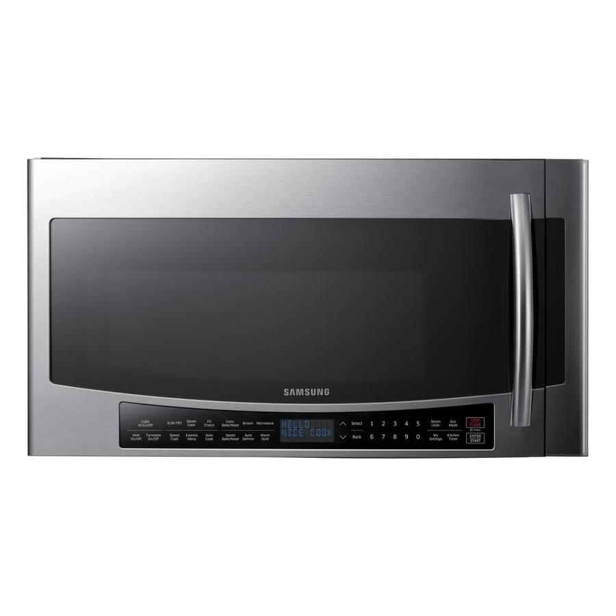 Shop Samsung 1 7 Cu Ft Over The Range Convection Microwave