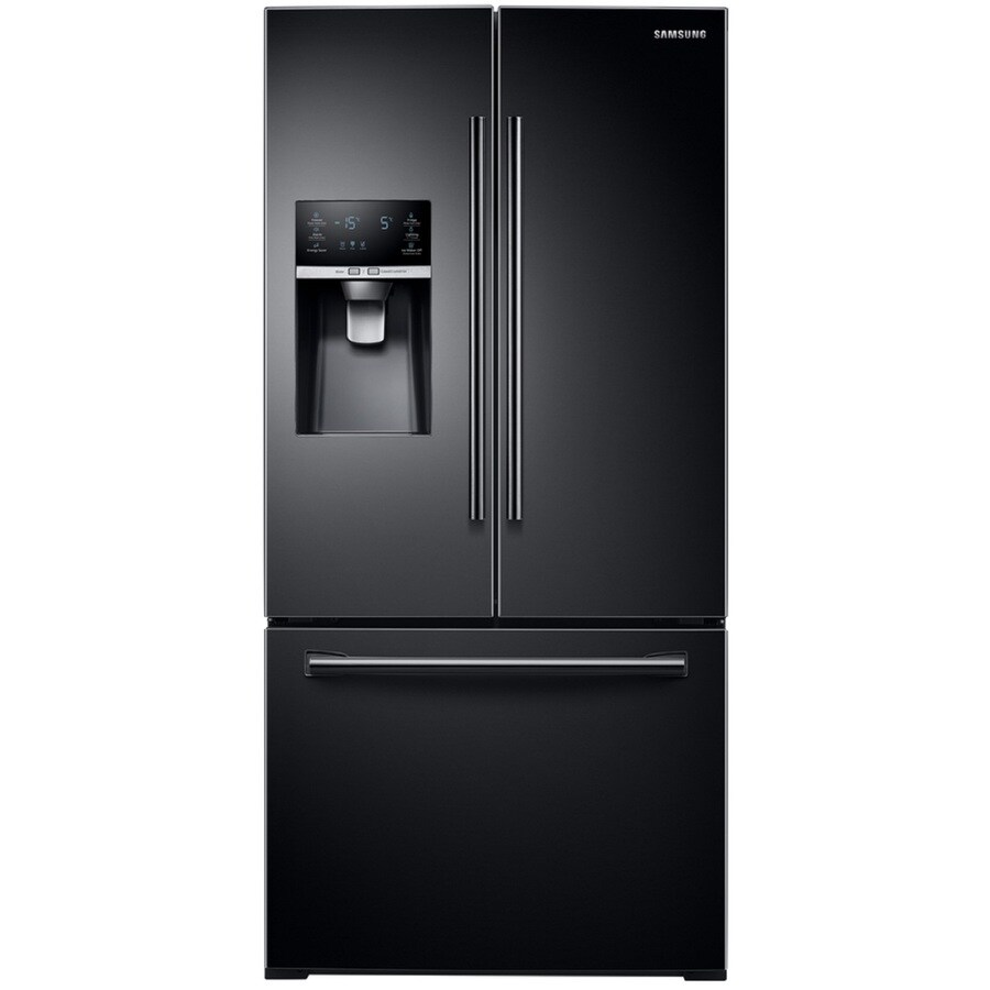 Shop samsung 25 5 cu ft french door refrigerator with for Five foot french doors