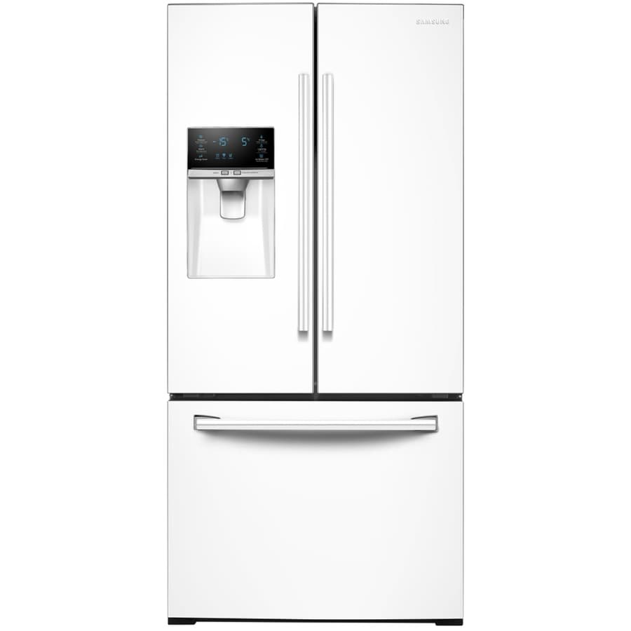 shop samsung 25 5 cu ft french door refrigerator with single ice maker white energy star at. Black Bedroom Furniture Sets. Home Design Ideas