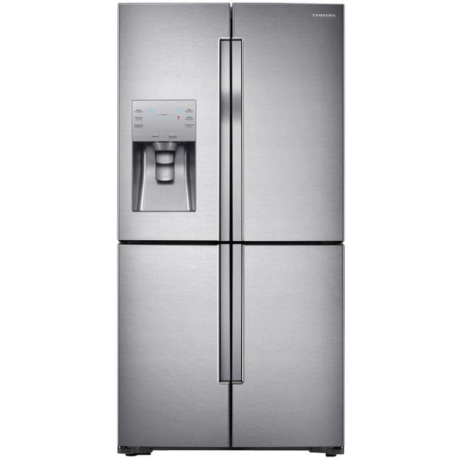 Samsung 22.5-cu ft 4-Door Counter-Depth French Door Refrigerator with Single Ice Maker (Stainless Steel)