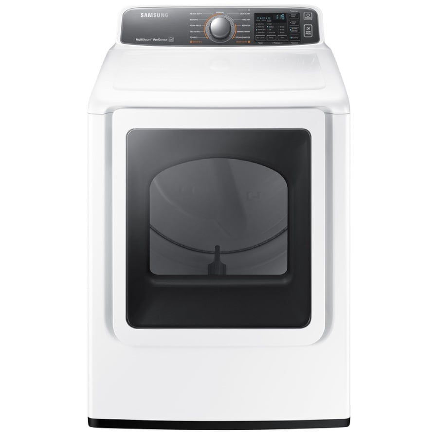 Samsung 7.4-cu ft Electric Dryer with Steam Cycles (White) ENERGY STAR