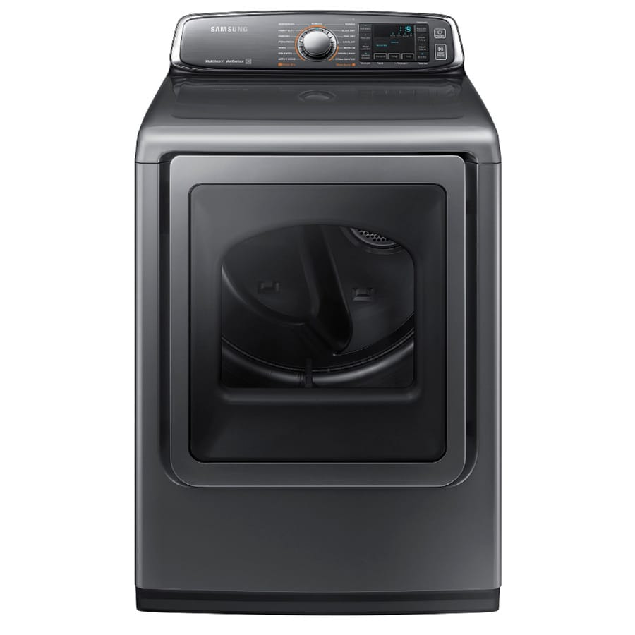 Samsung 7.4-cu ft Gas Dryer with Steam Cycle (Platinum) ENERGY STAR