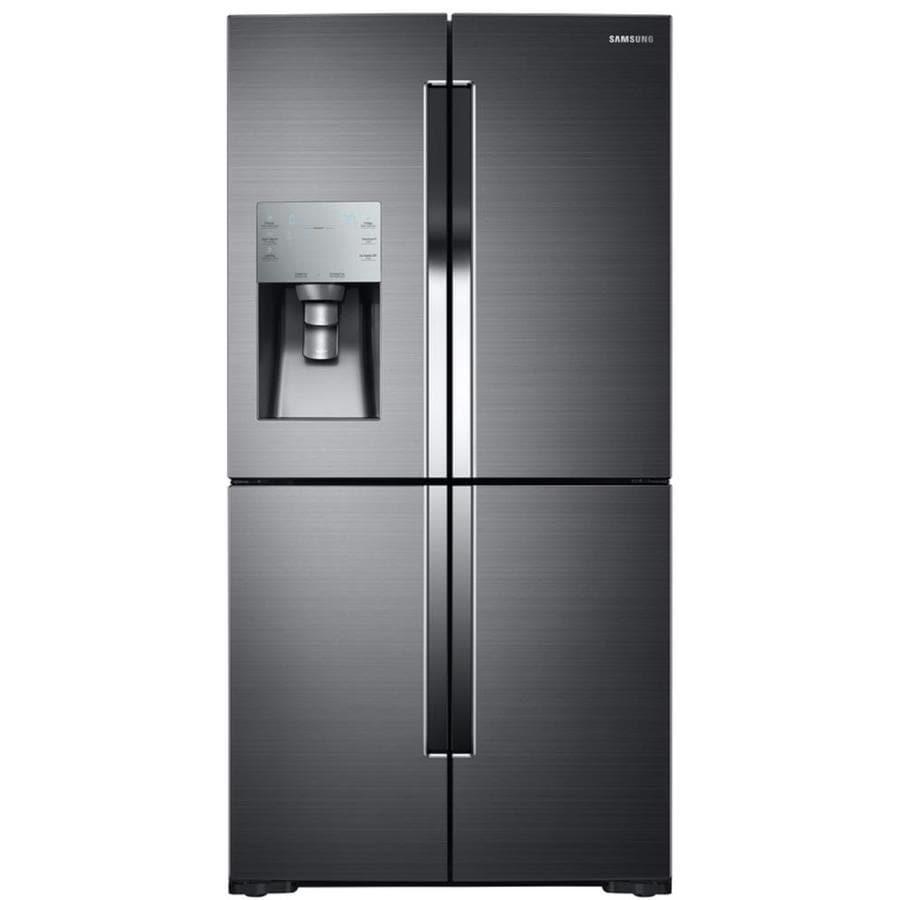Samsung Flex 28.1-cu ft 4-Door French Door Refrigerator with Single Ice Maker (Black Stainless Steel)