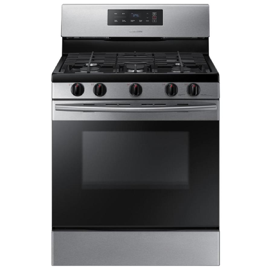 Samsung 5-Burner Freestanding 5.8-cu ft Gas Range (Stainless Steel) (Common: 30-in; Actual: 29.9375-in)