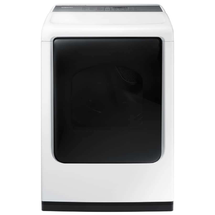 Samsung 7.4-cu ft Gas Dryer with Steam Cycle (White) ENERGY STAR