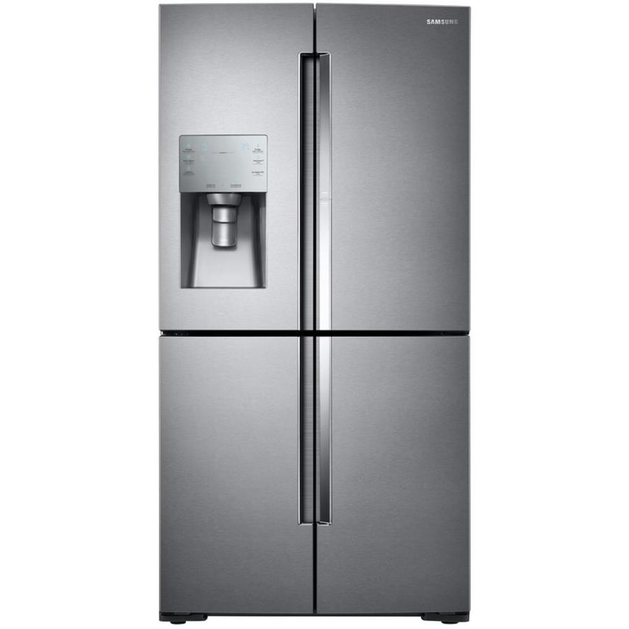 27 8 cu ft 4 door french door refrigerator with single ice maker door