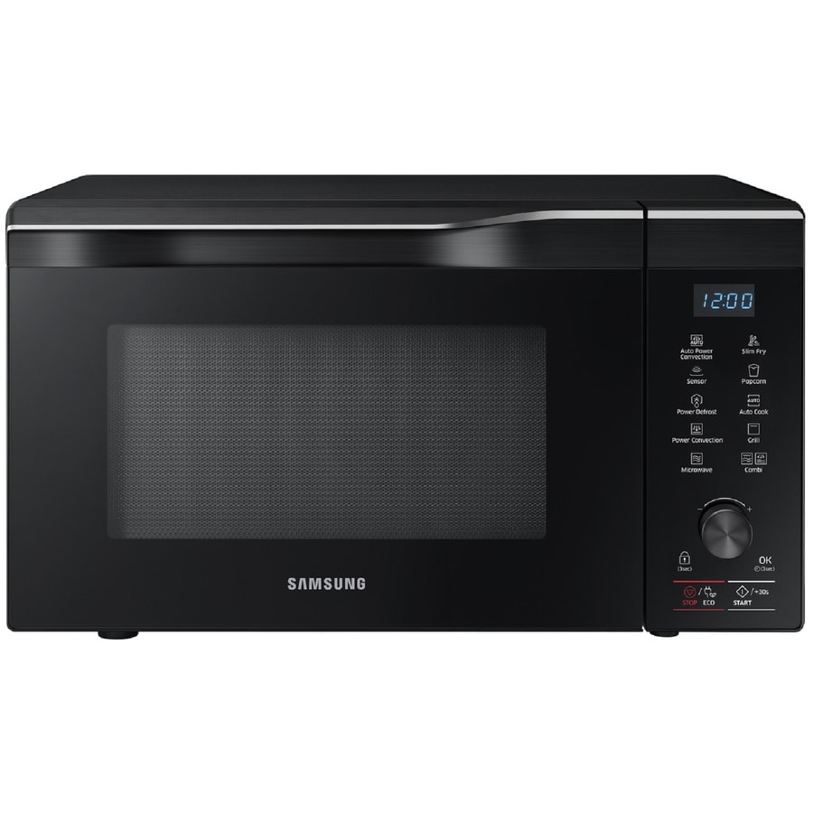 Shop Samsung 1 1 Cu Ft 1700 Watt Countertop Convection Microwave Black Stainless Steel At