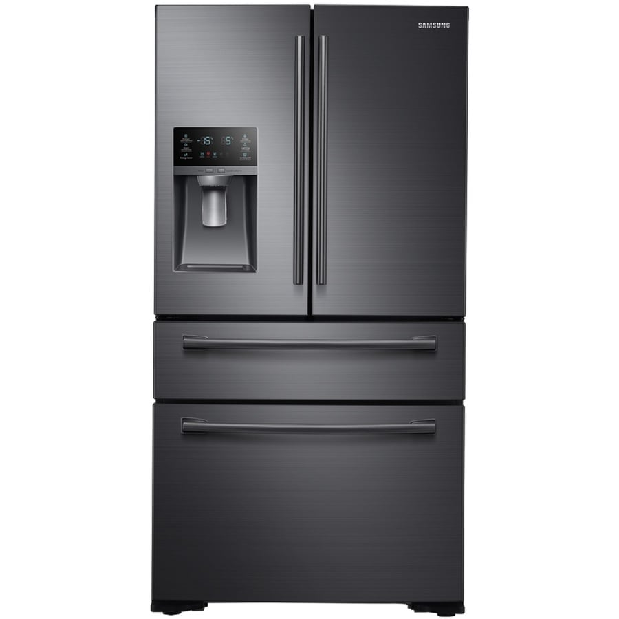 Samsung FlexZone 29.7-cu ft French Door Refrigerator with Single Ice Maker (Black Stainless Steel) ENERGY STAR
