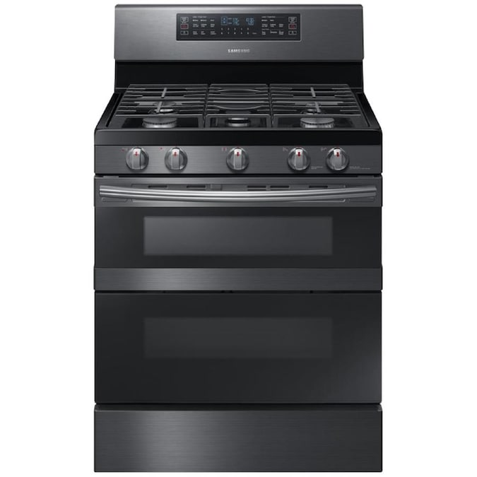 Shop Self-Cleaning Double Oven Convection Gas Range from Lowes on Openhaus