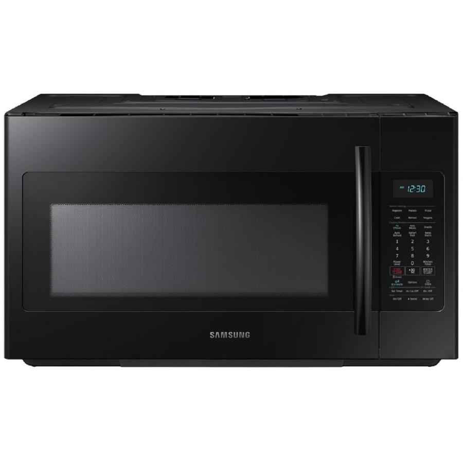 Samsung 1.8-cu ft Over-The-Range Microwave with Sensor Cooking Controls (Black) (Common: 30-in; Actual: 29.87-in)