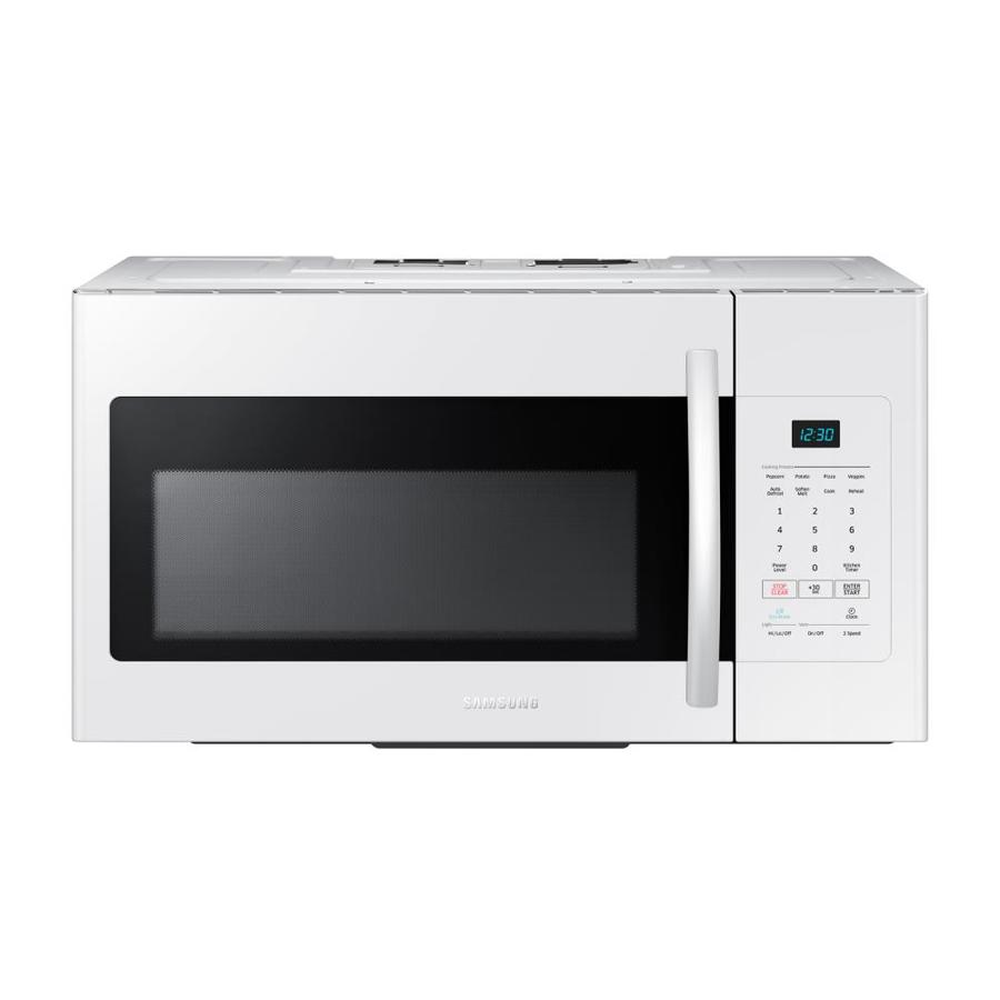 Samsung 1.6-cu ft Over-The-Range Microwave (White) (Common: 30-in; Actual: 29.875-in)