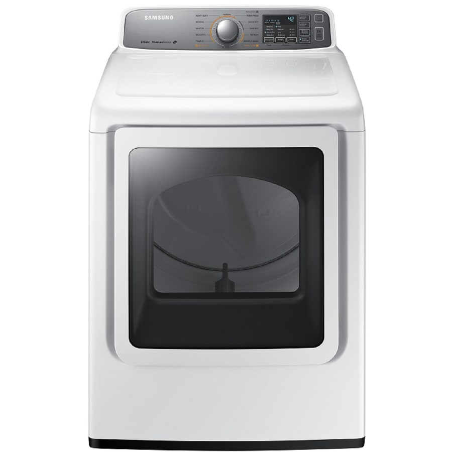 Samsung 7.4-cu ft Electric Dryer with Steam Cycle (White)