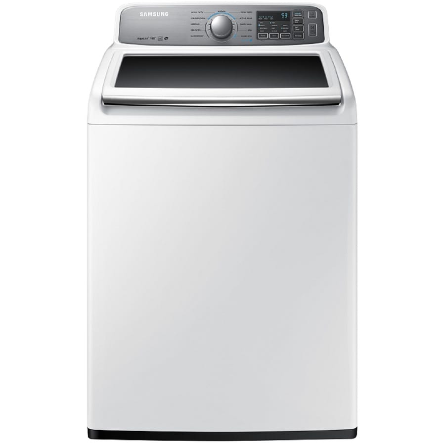 Samsung 4.8-cu ft High-Efficiency Top-Load Washer (White)