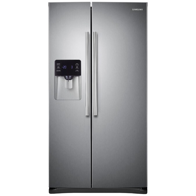 Energy Star Ft White Side-By-Side Refrigerator Samsung RS25H5121WW 24.5 Cu