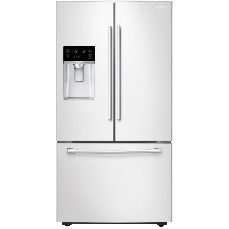 Samsung 28.07-cu ft French Door Refrigerator with Dual Ice Maker (White) ENERGY STAR
