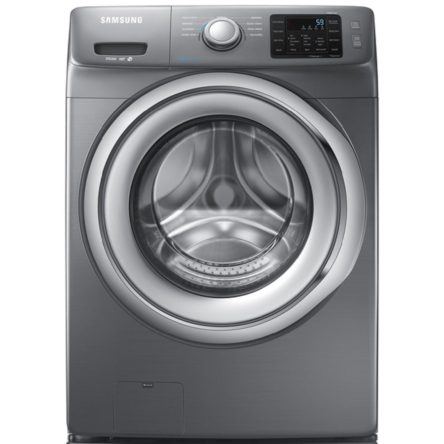 Samsung 4.2-cu ft High-Efficiency Stackable Front-Load Washer with Steam Cycle (Platinum) ENERGY STAR