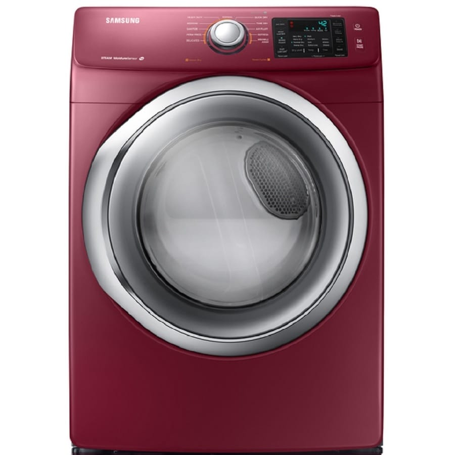 Samsung 7.5-cu ft Stackable Gas Dryer with Steam Cycle (Merlot)