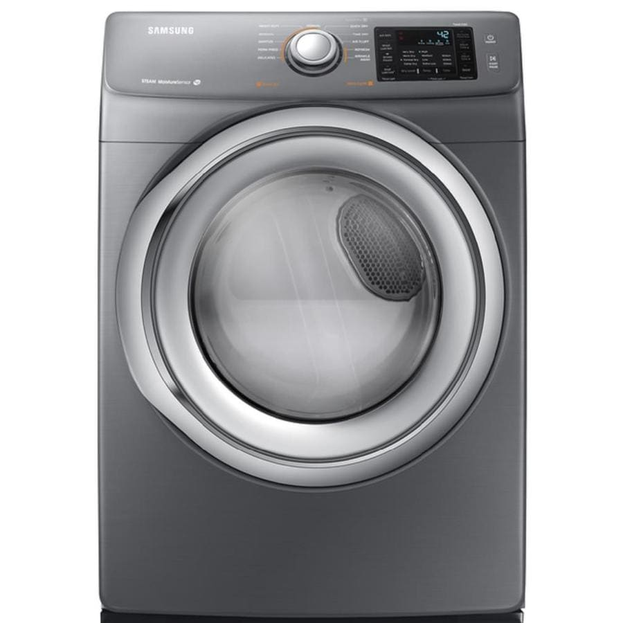 Samsung 7.5-cu ft Stackable Gas Dryer with Steam Cycle (Platinum)