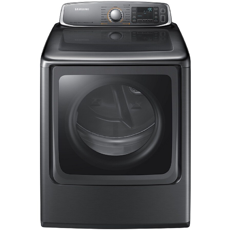 Samsung 9.5-cu ft Electric Dryer with Steam Cycles (Platinum)
