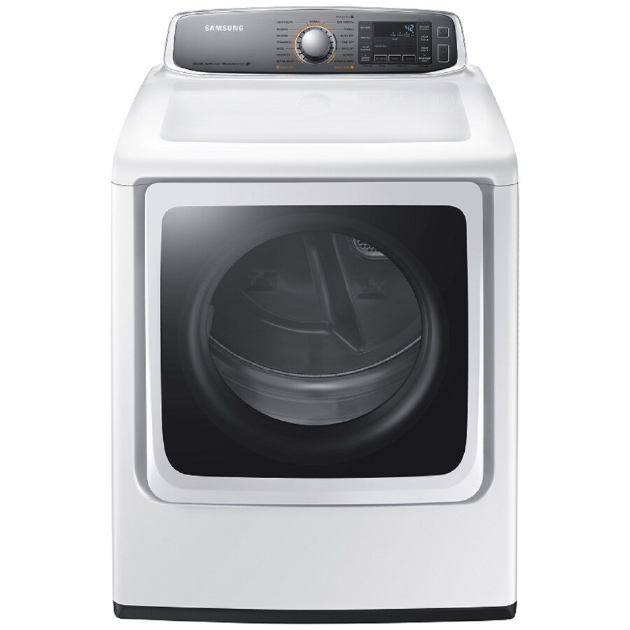 Samsung 9.5-cu ft Gas Dryer with Steam Cycle (White)