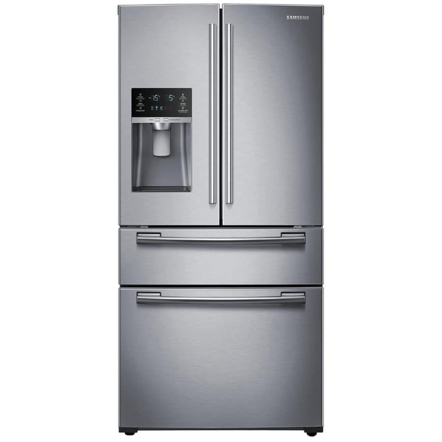 Samsung 24.73-cu ft 4-Door French Door Refrigerator with Single Ice Maker (Stainless Steel) ENERGY STAR