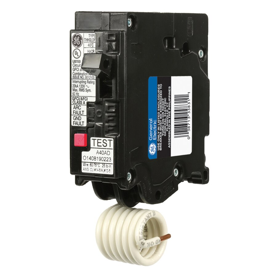 Ge Q-Line Thql 20-Amp 1-Pole Dual Function Afci/Gfci Circuit Breaker Thql1120dfp