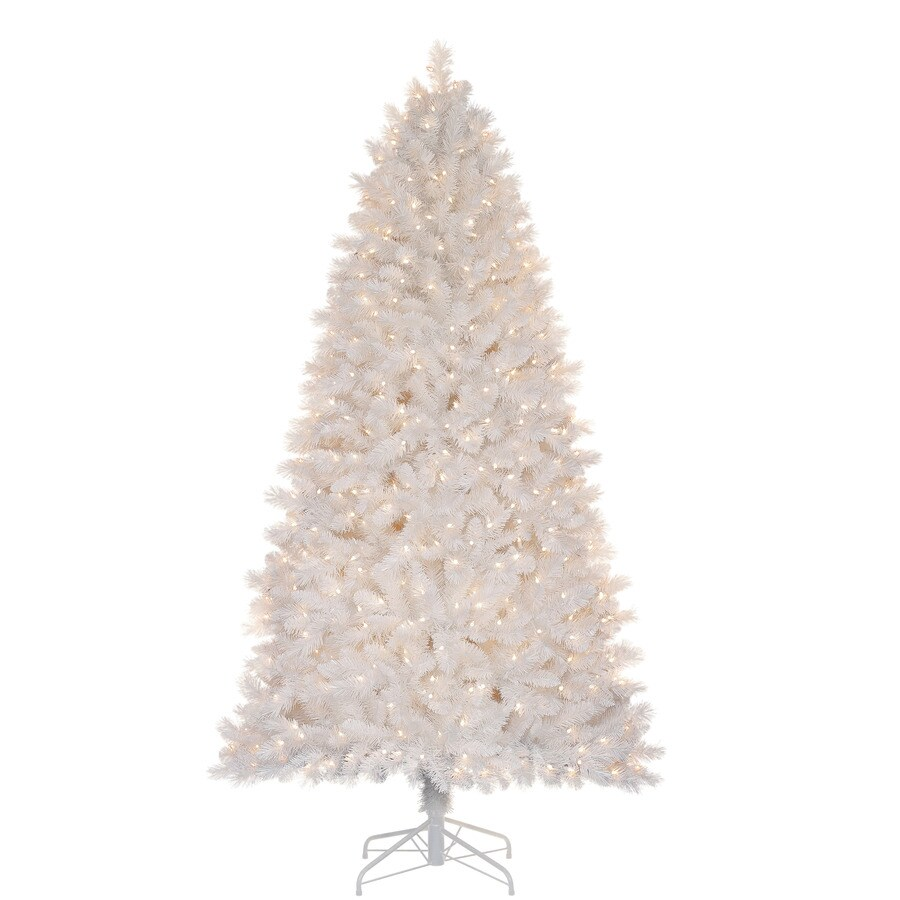Holiday Living 7-ft Pre-Lit Pine Artificial Christmas Tree with White Lights