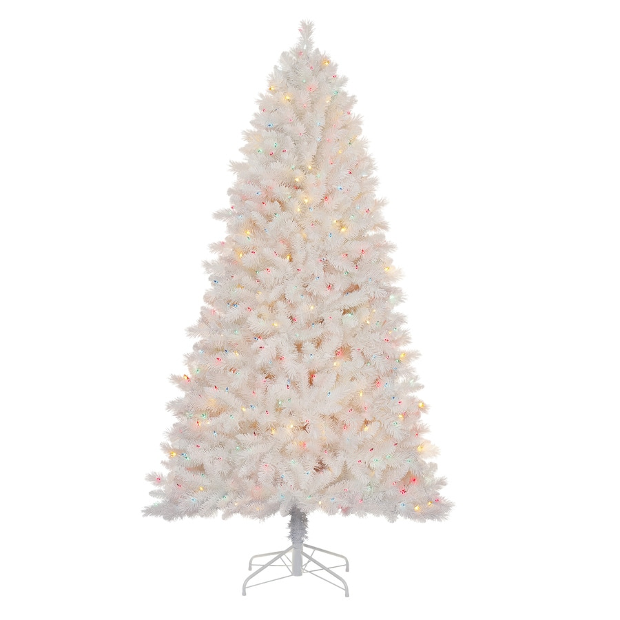 Holiday Living 7-ft Pre-Lit Pine Artificial Christmas Tree with Multicolor Lights