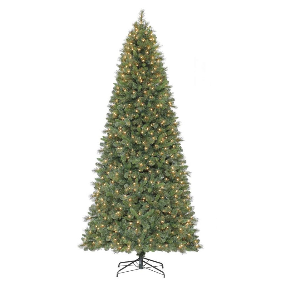 Holiday Living 9-ft Pre-Lit Robinson Fir Artificial Christmas Tree with White Clear Lights