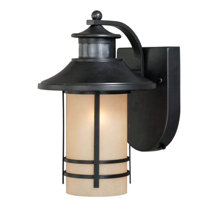 Shop Portfolio Lloyd 11 5 In H Oil Rubbed Bronze Motion Activated Outdoor Wal