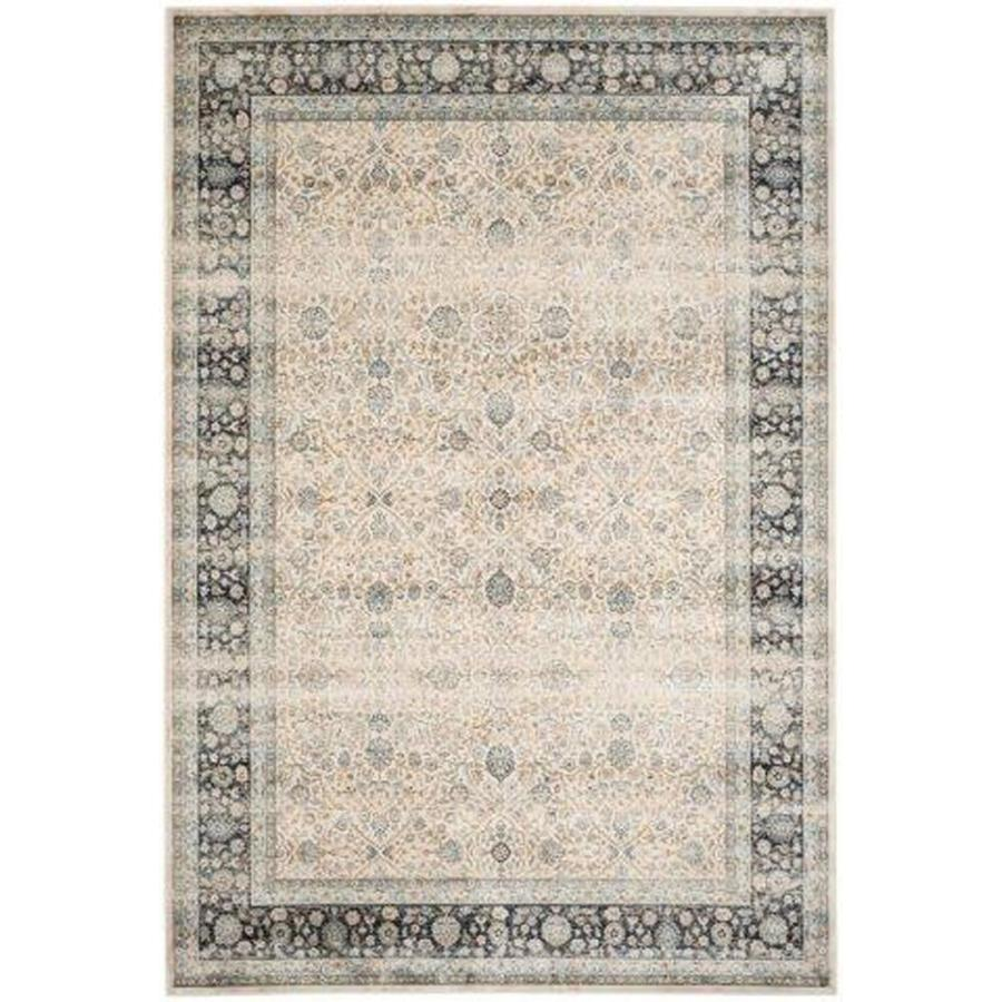 Safavieh Persian Garden Vintage Ivory and Navy Rectangular Indoor Machine-Made Area Rug (Common: 8 x 11; Actual: 96-in W x 132-in L x 0.75-ft Dia)