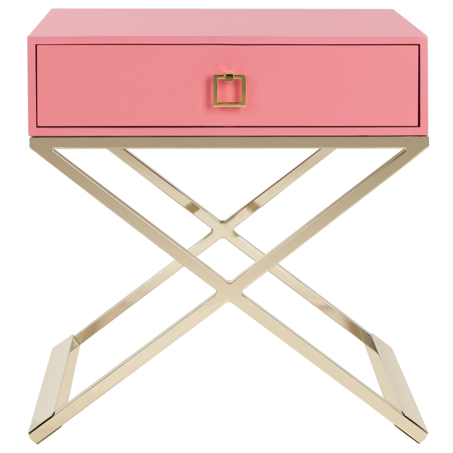 Safavieh Zarina Pink Wood End Table In The Tables Department At Lowes Com
