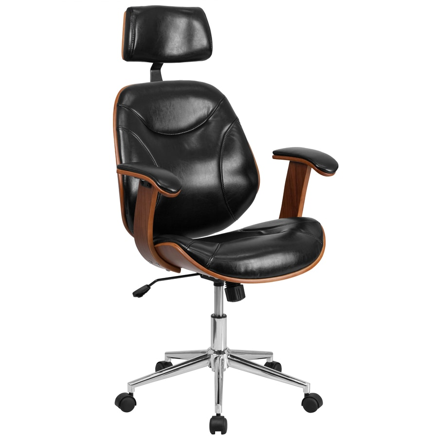 Jet Black High back executive office chair with armrest