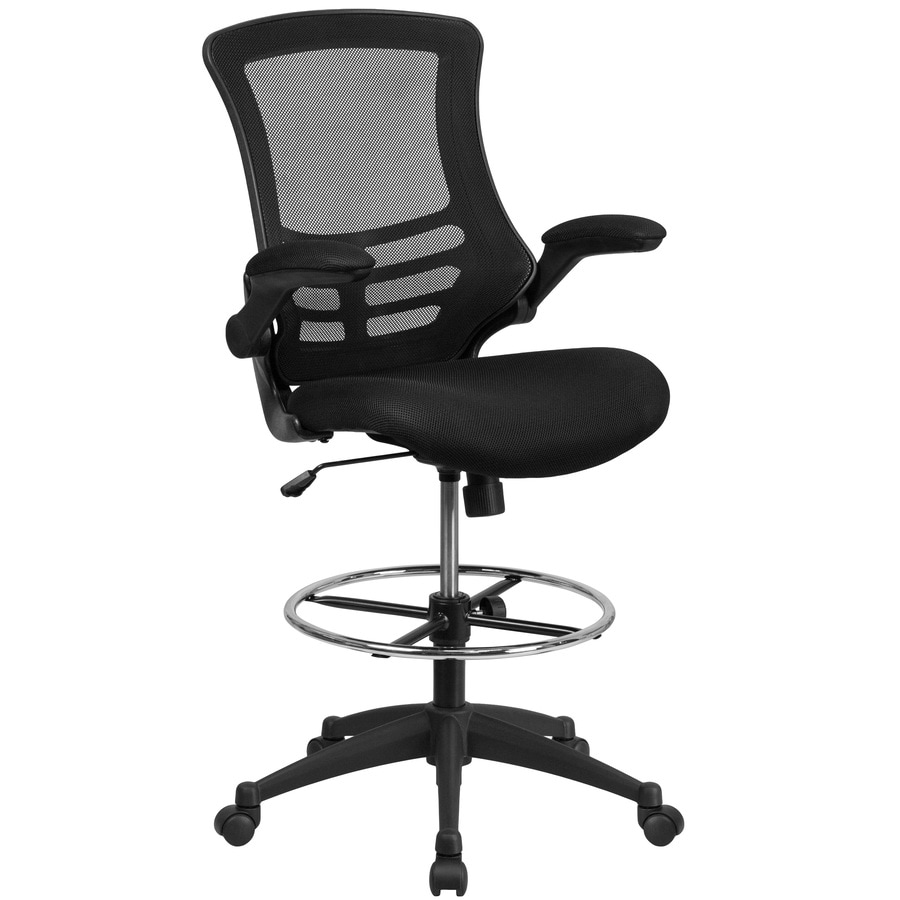Flash Furniture Black Contemporary Adjustable Height Swivel Drafting Chair