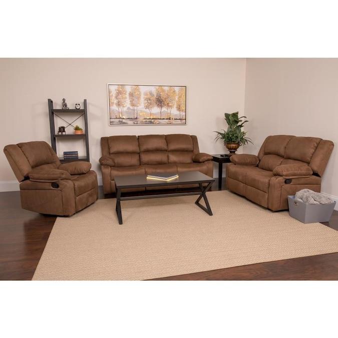 Flash Furniture Harmony Series Chocolate Brown Microfiber ...