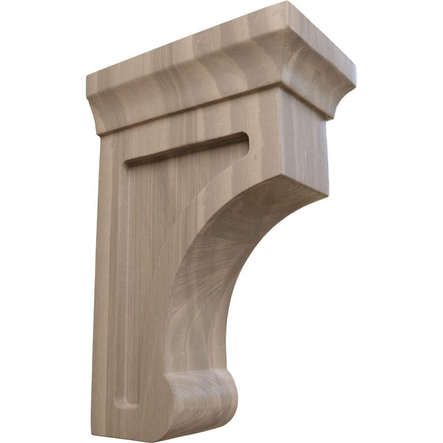 Ekena Millwork 2.5-in x 6-in Walnut Gomez Wood Corbel