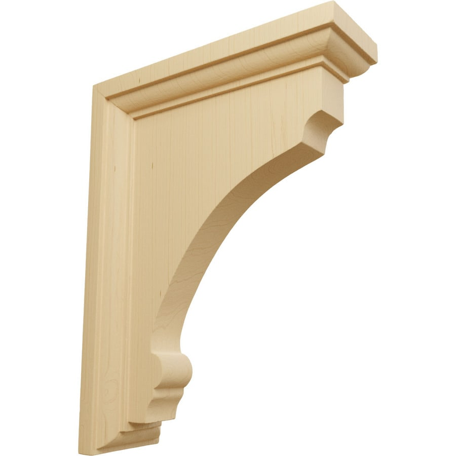 Ekena Millwork 2.5-in x 8-in Alder Thompson Wood Corbel