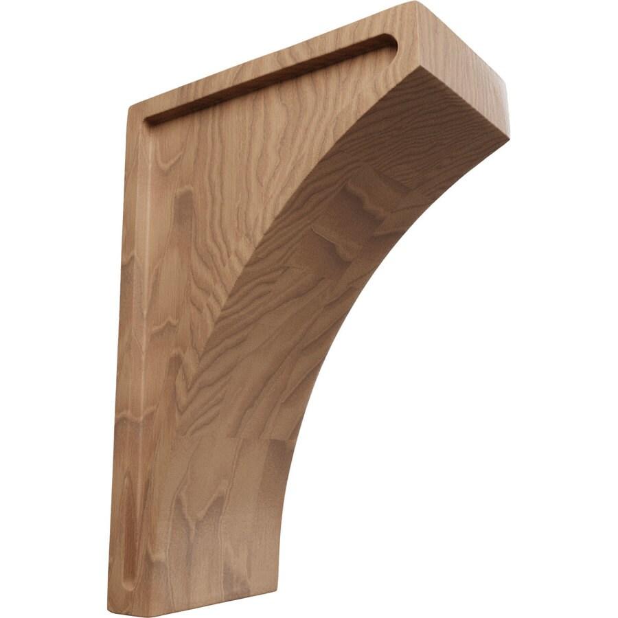 Ekena Millwork 3-in x 8-in Brown Lawson Wood Corbel