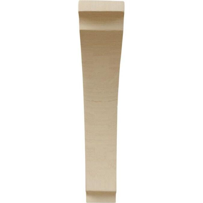 Ekena Millwork BKTW01X06X09AVWA Wood Bracket 1 3//4W x 6 1//2D x 9H Walnut