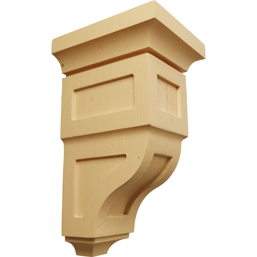 Ekena Millwork 5-in x 10-in Brown Reyes Wood Corbel