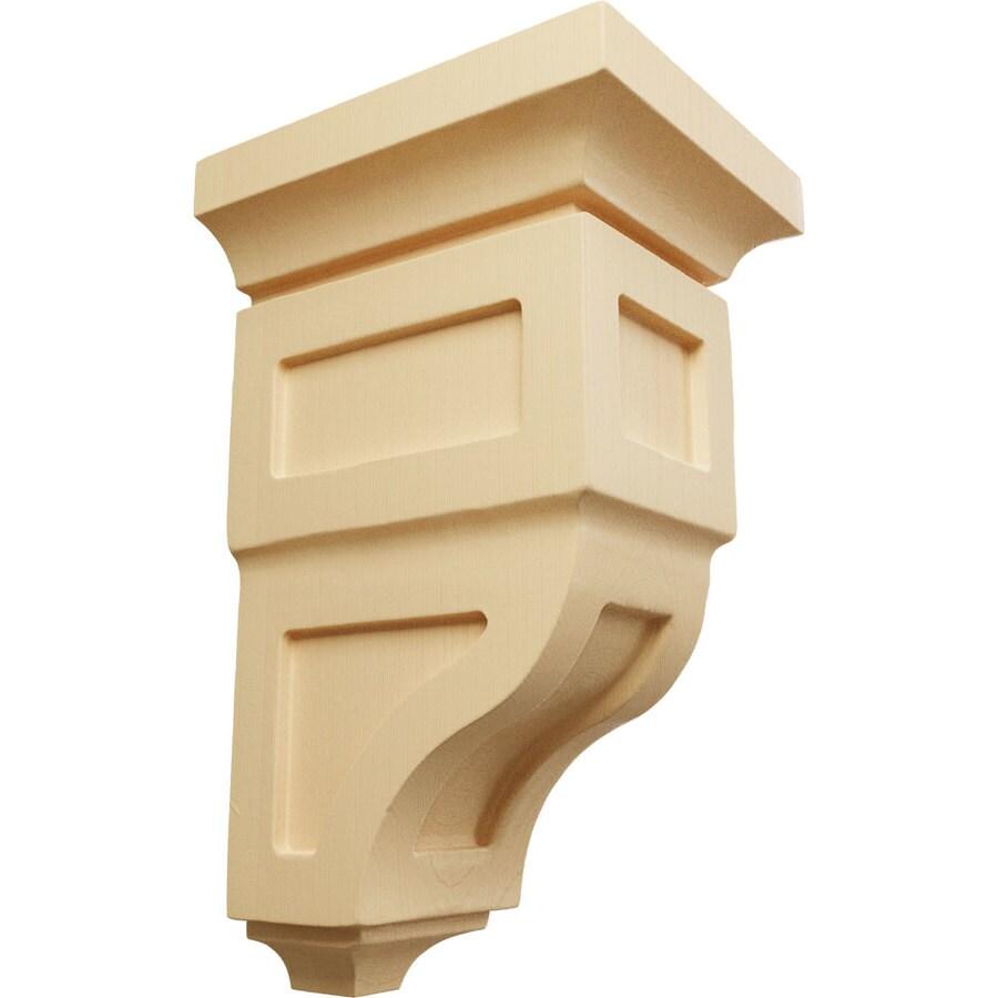 Ekena Millwork 4-in x 8-in Brown Reyes Wood Corbel