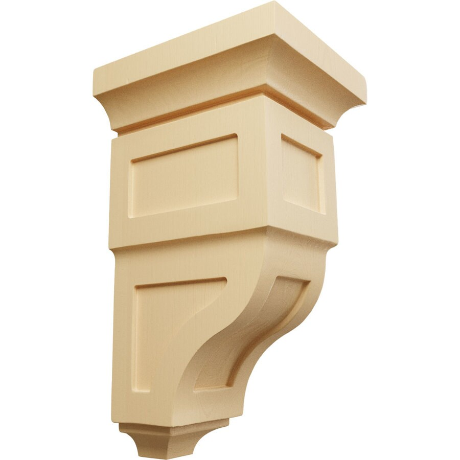 Ekena Millwork 6-in x 12-in Brown Reyes Wood Corbel