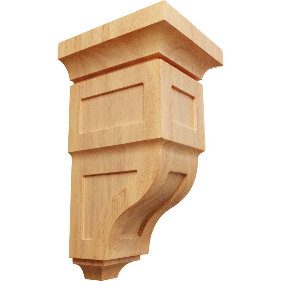 Ekena Millwork 7-in x 14-in Brown Reyes Wood Corbel