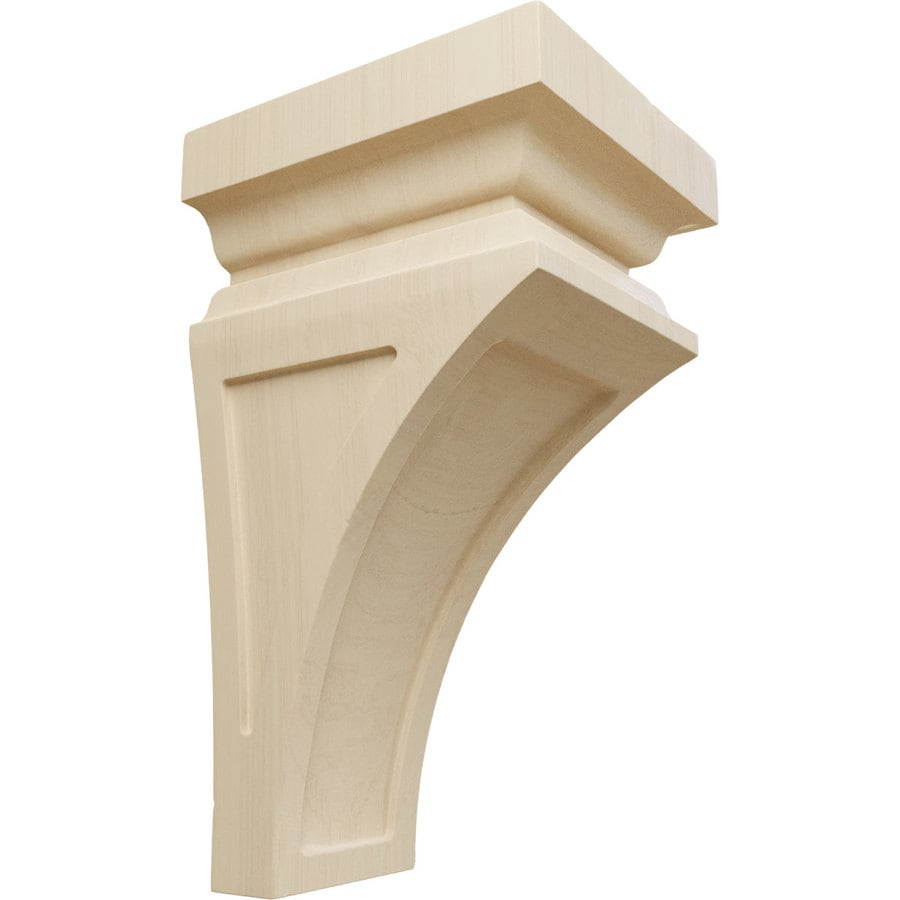 Ekena Millwork 6-in x 12-in Brown Nevio Wood Corbel