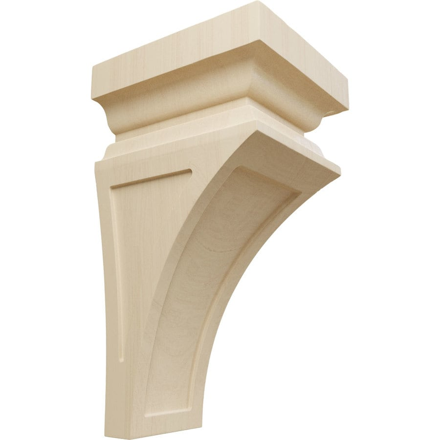 Ekena Millwork 7-in x 14-in Brown Nevio Wood Corbel