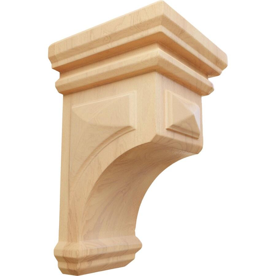 Ekena Millwork 3.5-in x 6-in Brown Woodruff Wood Corbel