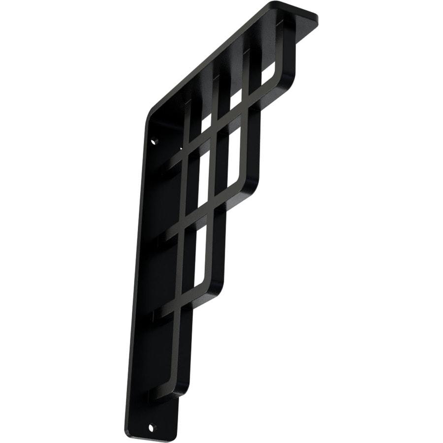 Ekena Millwork Diane 8-in x 1.5-in x 5.5-in Black Countertop Support Bracket